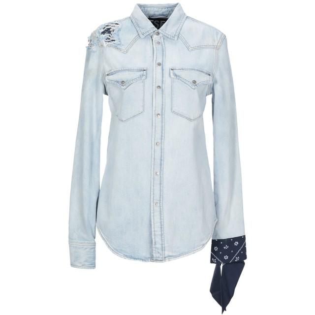 《セール開催中》DIESEL レディース デニムシャツ ブルー XS コットン 100% / ポリエステル