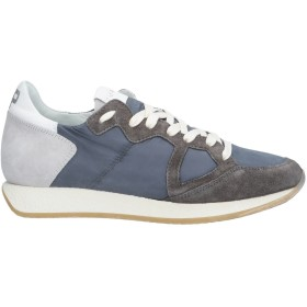 《セール開催中》PHILIPPE MODEL メンズ スニーカー&テニスシューズ(ローカット) ブルーグレー 39 革 / 紡績繊維