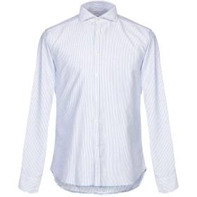 《期間限定セール開催中!》LIBERTY ROSE メンズ シャツ ブルー 39 コットン 100%