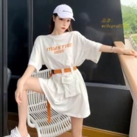 ワンピース レディース 綿100% 大きいサイズ 新作 ワンピース 大人 半袖 上品 旅行 ベルト きれいめ 着痩せ ワンピース 韓国風 ルロング