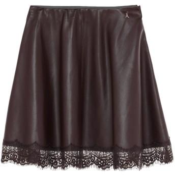 《セール開催中》PATRIZIA PEPE レディース ひざ丈スカート ディープパープル 40 ポリウレタン 100%