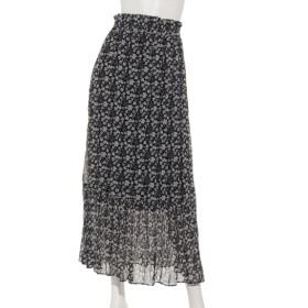 50%OFF archives (アルシーヴ) ワッシャープリーツフラワースカート ブラック