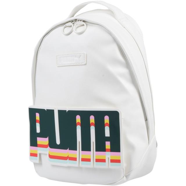 《セール開催中》PUMA レディース バックパック&ヒップバッグ ホワイト ポリウレタン 85% / ポリエステル 15%
