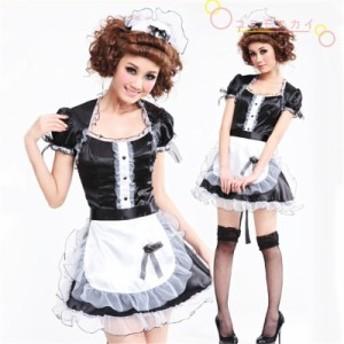コスプレ専用 ハロウィン メイド服 レディース エプロン付 Halloween 欧米風 ワンピーズ 変装 大人 仮面舞踏会 舞台 パーティー用