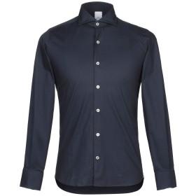 《期間限定セール開催中!》DOMENICO TAGLIENTE メンズ シャツ ダークブルー 44 コットン 97% / ポリウレタン 3%