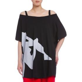 【77%OFF】KAPPA ロゴプリント ボートネック Tシャツ ブラック m