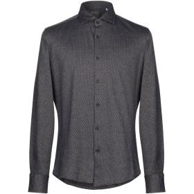 《セール開催中》XACUS メンズ シャツ ダークブルー 39 コットン 100%