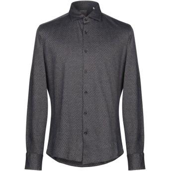 《期間限定 セール開催中》XACUS メンズ シャツ ダークブルー 42 コットン 100%