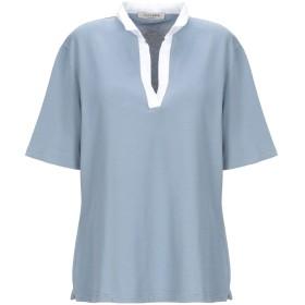 《期間限定セール開催中!》LA FILERIA レディース ポロシャツ スカイブルー 46 コットン 93% / ポリウレタン 7% / 麻