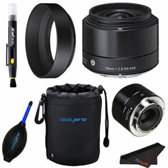 Sigma 19mm f / 2.8DNレンズfor Sony・Eマウントカメラ(ブラック) + pixi(新品未使用の新古品)