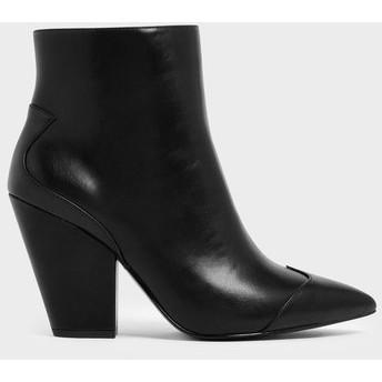 【2019 FALL 新作】ブロックヒール アンクルブーツ / Block Heel Ankle Boots (Black)