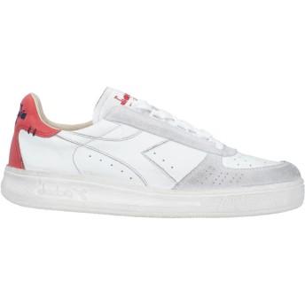 《セール開催中》DIADORA HERITAGE メンズ スニーカー&テニスシューズ(ローカット) ホワイト 4.5 革