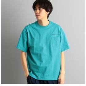 【green label relaxing:トップス】別注 [チャンピオン]SC Champion LOGO ポケット Tシャツ