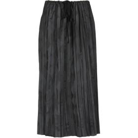《期間限定 セール開催中》HACHE レディース 7分丈スカート ブラック 44 ポリエステル 50% / ナイロン 50%