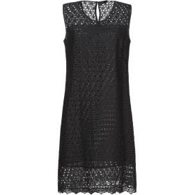 《セール開催中》DIANA GALLESI レディース ミニワンピース&ドレス ブラック 40 コットン 100%