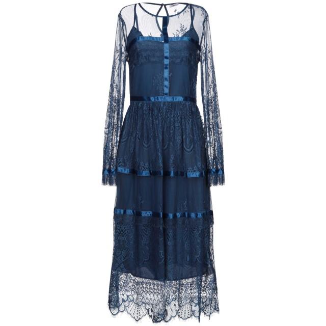 《セール開催中》BLUGIRL BLUMARINE レディース 7分丈ワンピース・ドレス ブルー 40 ポリエステル 100%