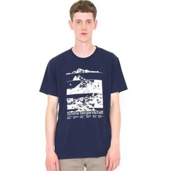 【グラニフ:トップス】Tシャツ/ビューティフルマウンテン(ヤマップ)