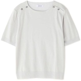 ヒューマンウーマン ◆成型5分袖プルオーバー レディース Lグレー M 【HUMAN WOMAN】
