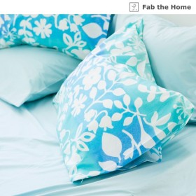 ベルメゾン グラデーションがきれいな北欧柄の枕カバー・掛け布団カバー(単品) 「ブルー」