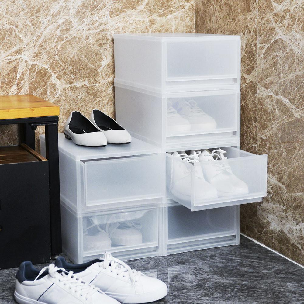 +o家窩伊利pp可疊抽屜式鞋盒-6個