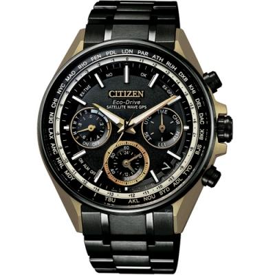 CITIZEN 星辰GPS衛星對時鈦金屬F950蓋世腕錶-金(CC4004-66E)
