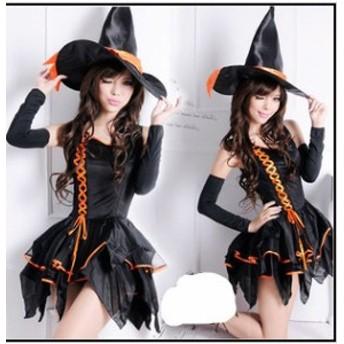ハロウィン衣装 大人用 女性用 ドレス  巫女 ウィッチガール まじょ ハロウィン 衣装 仮装 コスプレ レディース イベント ハロウィーン