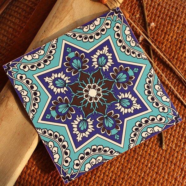 (美化空間)地中海風格花卉圖騰防水貼紙(地板牆壁皆適合)預購七天