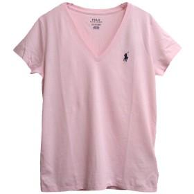 (ラルフローレン) POLO RALPH LAUREN コットン ソリッド Vネック Tシャツ (M, LIGHT PINK/NV) [並行輸入品]