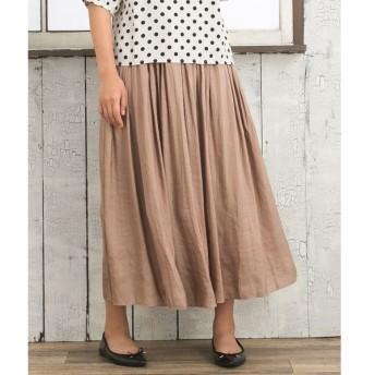[マルイ]【セール】【大きいサイズ】ヴィンテージサテンギャザースカート/サブストリート(大きいサイズ)(sab street my standard)