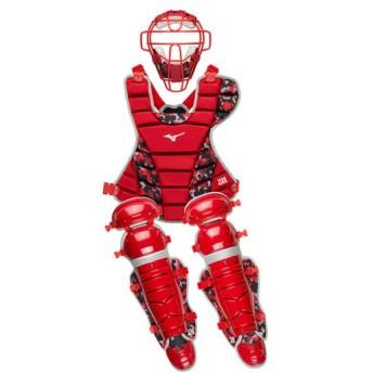 MIZUNO SHOP [ミズノ公式オンラインショップ] 軟式用捕手防具3点セット(野球) 62 レッド 1DJPC010