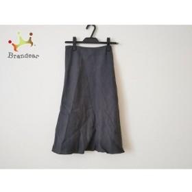 アニエスベー agnes b スカート サイズ42 L レディース 美品 ダークグレー ウエストゴム 新着 20190809