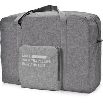 O RLY 折りたたみキャリーオンバッグ Duffle Bag 折りたたみ式旅行 防水ポリエステル繊維 (Gray)