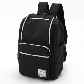 バッグ カバン 鞄 レディース リュック 収納力抜群6ポケットリュックサック カラー 「ブラック」