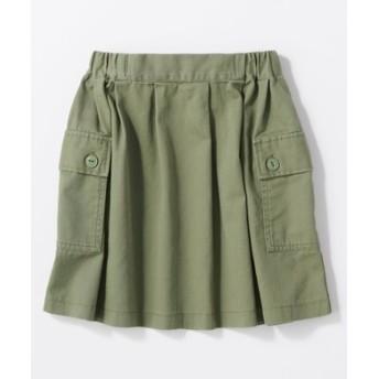BACK NUMBER カーゴスカート キッズ(ジュニアサイズ150-160cm) キッズ カーキ
