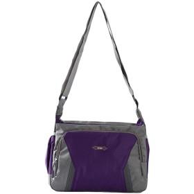 HKUN 斜めがけ ショルダーバッグ 肩掛けバッグ 大容量 スポーツ アウトドア 軽量 防水バッグ 運動バッグ 紫色