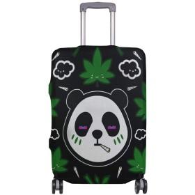 スーツケースカバー 荷物カバー パンダクッシュ 伸縮素材 ラゲッジカバー 防塵 擦り傷防止 トラベルアクセサリ 旅行