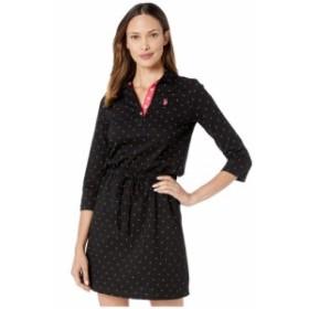 ユーエスポロアッスン U.S. POLO ASSN. レディース ワンピース ワンピース・ドレス Jersey Tri-Dot Dress Anthracite