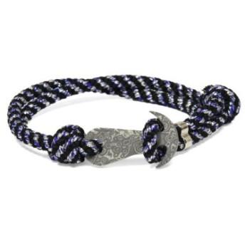 MUSHA Damascus Bracelet 組紐タイプ BLACK×SILVER