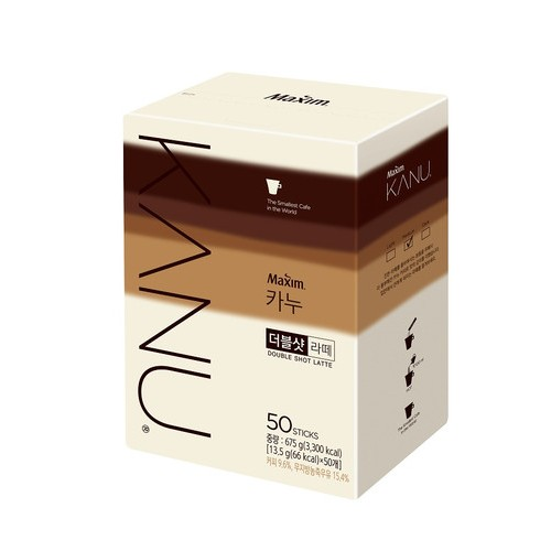 [MAXIM] KANU DOUBLE SHOT 拿鐵咖啡 (13.5g x 50入) [韓國直送]