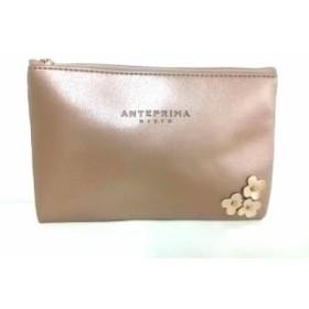 アンテプリマミスト ANTEPRIMA MISTO ポーチ レディース ベージュゴールド 化学繊維【中古】20190808