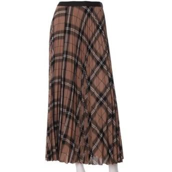 INED L / イネド(エルサイズ) 《大きいサイズ》チェック柄プリーツスカート