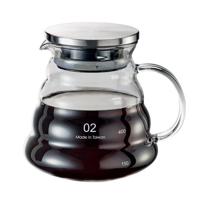 金時代書香咖啡 Tiamo 雲朵玻璃壺  600cc  (把手)  HG2195