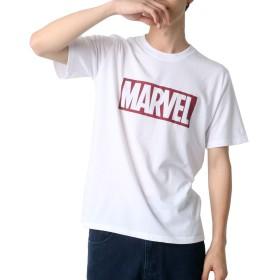 [マーベルコミック] Tシャツ ボックス ロゴ プリント 半袖 メンズ ホワイト M