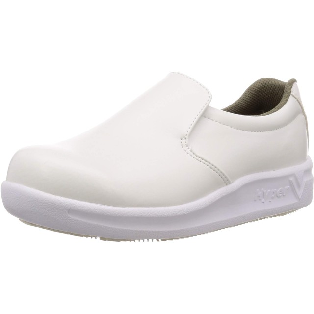 [日進ゴム] 作業靴 粉ハイパーV#5740 粉塵用防滑 先芯無し メンズ 白 27 cm 3E