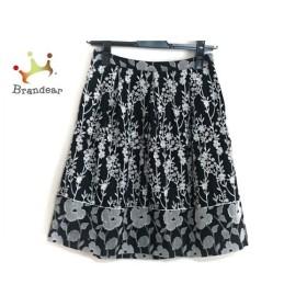 トッカ TOCCA スカート サイズ0 XS レディース 美品 黒×白 花柄/刺繍   スペシャル特価 20191102