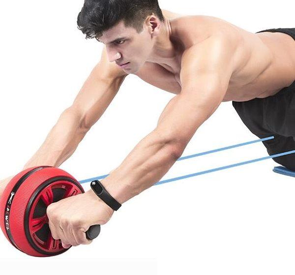 健腹輪男健身器材家用收腹運動卷腹滾輪初學者女鍛煉練回彈腹肌輪WD 創意家居生活館