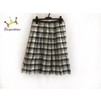 マーガレットハウエル MargaretHowell スカート サイズ3 L レディース 美品 チェック柄 新着 20190810