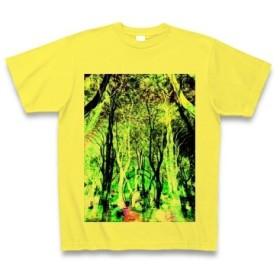 有効的異常症候群幻林◆アート◆文字◆ロゴ◆ヘビーウェイト◆半袖◆Tシャツ◆イエロー◆各サイズ選択可