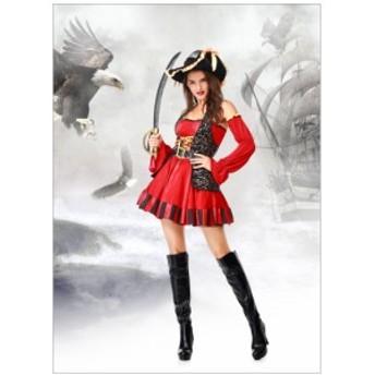 ハロウィン コスチューム コスプレ cosplay 海賊 ワンピース レディース 変装 仮装 大人用 学園祭 パーティー服 イベント用 セクシー
