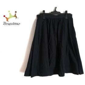 マーガレットハウエル ロングスカート サイズ3 L レディース 美品 ダークネイビー 新着 20190810